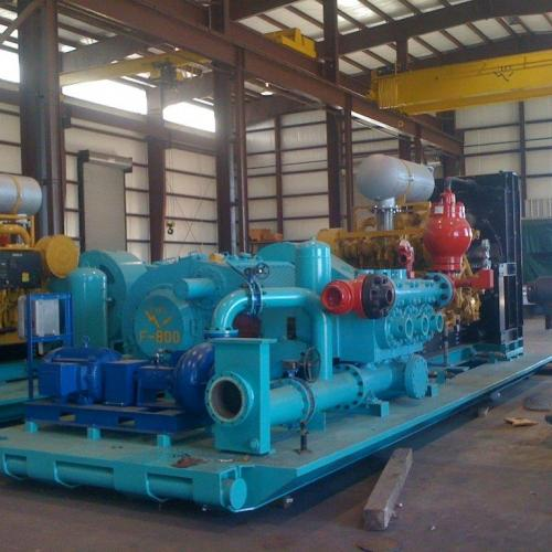 800PH Unitized Triplex Mud Pump w/ CAT Power Master Skidded