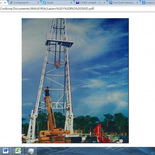 Drilling Rig in Ecuador