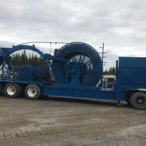 Hydra Rig coiled Tubing Trailer with control trailer