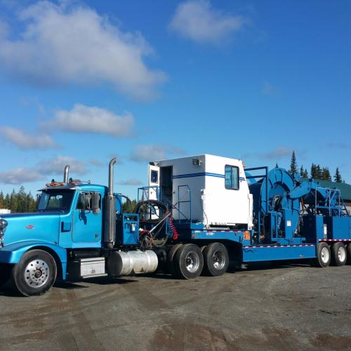 1994 Hydra Rig Coil Tubing Trailer with 1993 Peterbilt 377